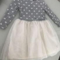 Vestido Gap coração - 4 anos - Baby Gap