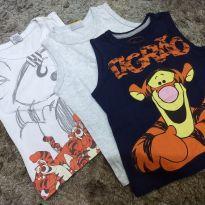 Trio camisetinhas regata - 18 a 24 meses - Mineral Kids e Disney