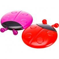 Embalagem 2 Mordedores Joaninha - Vermelho E Lilás - Sassy -  - sassy
