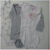 Kit com 3 bodies manga longa Carter`s 18 meses - 18 meses - Carter`s