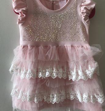 Vestido Pituchinhos - 6 a 9 meses - Pituchinhus