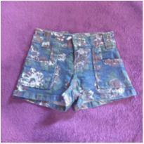 Short jeans estampado com strech - 2 anos - Não informada