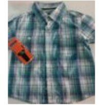 blusão manga curta quadriculado - 2 anos - Não informada
