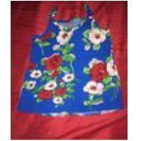 Camisa em tecido floral - 2 anos - Não informada