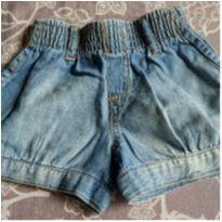 short jeans - 6 a 9 meses - Não informada
