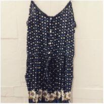 vestido em crepe azul marinho - Único - marisa