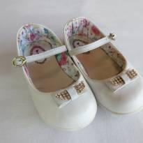 Sapato Boneca branco tamanho 24 - 24 - brink