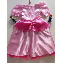 Vestido Princesa Peach - 5 anos - Feito à mão