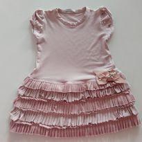 Vestido Infantilândia Rosa Bebe - 12 a 18 meses - Infantilândia