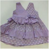 Vestido Bebê Luxo - 0 a 3 meses - Não informada
