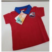 Camiseta Polo - 6 a 9 meses - Fakini