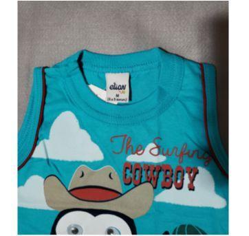 Camiseta regata - 6 a 9 meses - Elian