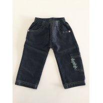 Calça sarja black P - 12 a 18 meses - Mimo Sapeca