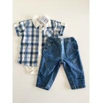 Conjunto Noruega Azul G - 6 a 9 meses - Noruega Baby