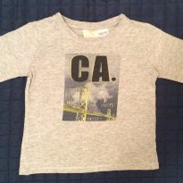 Camiseta manga longa Zara - 6 a 9 meses - Zara Baby