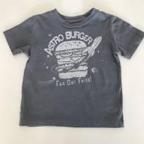Camiseta cinza gap - 12 a 18 meses - Baby Gap