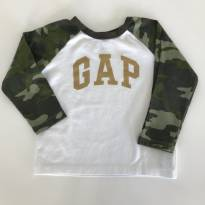 Camiseta manga longa Gap militar - 2 anos - Baby Gap