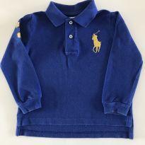 Camisa Polo manga longa azul - 2 anos - Ralph Lauren