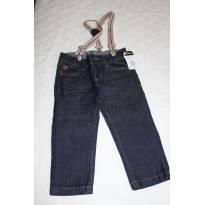 Calça Jeans com Suspensório - 2 anos - Akiyoshi