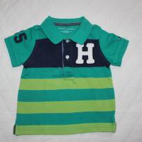 Polo Verde Listrada Tommy - 1 ano - Tommy Hilfiger