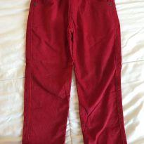 Calça Veludo Vermelha - 2 anos - Have Fun