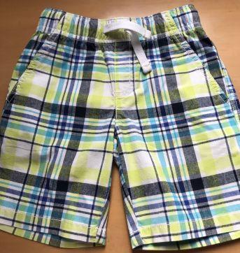 Shorts Brim Xadrez Amarelo - 3 anos - Gymboree