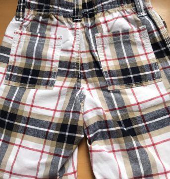 Shorts Brim Xadrez Vermelho - 3 anos - Gymboree