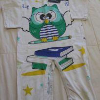 Macacão Pijama Divertido Coruja - 24 a 36 meses - Get Baby