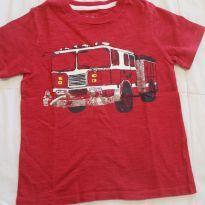 Camiseta Gap Bombeiros - 3 anos - Baby Gap