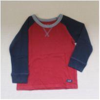 Camiseta Manga Longa Bicolor - 3 anos - Baby Gap