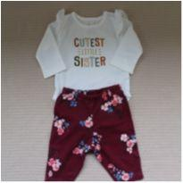 Conjunto Cutest Little Sister - 3 meses - Carter`s