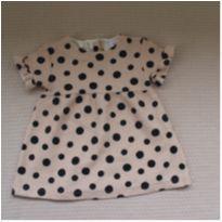 Vestido Poá Zara - 6 a 9 meses - Zara Baby