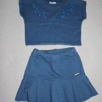 Conjunto Moletinho Croped - 9 a 12 meses - Up Baby