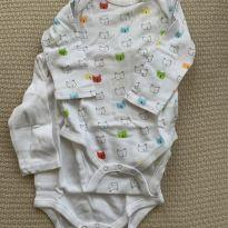 Kit 2 Bodys Manga Longa Ursinho - 3 a 6 meses - GAP e Baby Gap