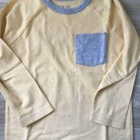 Camiseta Manga Longa Amarela Gap - 4 anos - GAP e Baby Gap