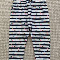 Calça Legging Bolinhas Gap - 6 meses - GAP e Baby Gap