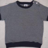 Camiseta malha listradinha - 18 meses - Petit Bateau