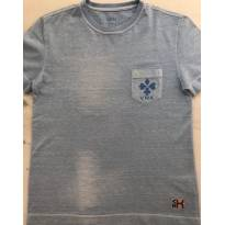 Camiseta Azul VR símbolo Ouros - 6 anos - VR Kids