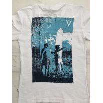 Camiseta Branca VRkids Estampa nas costas - 6 anos - VR Kids