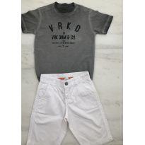Camiseta VRKIDS cinza com estampa escritos - 6 anos - VR Kids