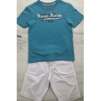 Camiseta malha Brookfield turquesa - 4 anos - Brooksfield Júnior