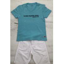 Camiseta VRkids turquesa, gola V. - 6 anos - VR Kids