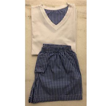 Pijama Sonhart short Xadrez - 6 anos - Sonhart