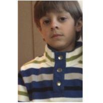 Blusa listradinha em malha canelada Gymboree - 6 anos - Gymboree