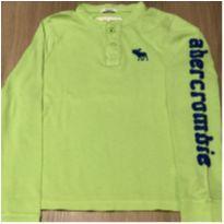 Camiseta Manga longa Abercrombie verde - 7 anos - Abercrombie