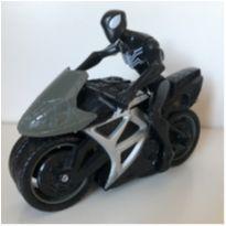 Moto Racing Preta e cinza com Homem Aranha -  - Mattel