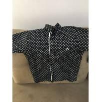 Camisa Preta Estampada manga Longa Aquarela tamanho 3 - 3 anos - Aquarela