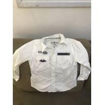 Camisa manga longa Branca Tigor e Tigre tamanho 2 - 2 anos - Tigor T.  Tigre