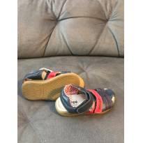 Sandalia Ortope com tiras de couro tamanho 25 - 25 - Ortopé