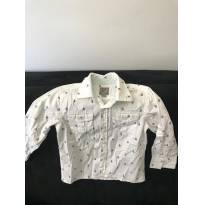 Camisa Manga Longa branca estampada tamanho 3 - 3 anos - Little Boy